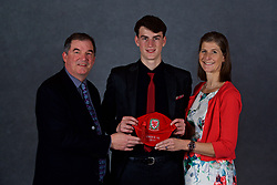 NEWPORT, WALES - Saturday, May 19, 2018: Cian Tyler and family during the Football Association of Wales Under-16's Caps Presentation at the Celtic Manor Resort. (Pic by David Rawcliffe/Propaganda)