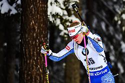March 8, 2019 - –Stersund, Sweden - 190308 Suvi Minkkinen of Finland competes in the Women's 7.5 KM sprint during the IBU World Championships Biathlon on March 8, 2019 in Östersund..Photo: Petter Arvidson / BILDBYRÃ…N / kod PA / 92247 (Credit Image: © Petter Arvidson/Bildbyran via ZUMA Press)