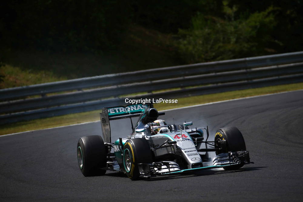 &copy; Photo4 / LaPresse<br /> 26/07/2015 Budapest, Hungary<br /> Sport <br /> Grand Prix Formula One Hungary 2015<br /> In the pic: Lewis Hamilton (GBR) Mercedes AMG F1 W06