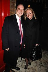 VISCOUNT CRICHTON and KATE NEWTON at a party to launch Crosley Diamonds at Annabels, Berkeley Square, London on 15th November 2007.<br />