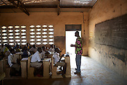 Bukari Aziz, 19, is a volunteer teacher and former student at Pope John.s Catholic Junior High School, northern Ghana.