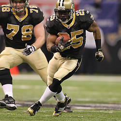 16 January 2010:  during a 45-14 win by the New Orleans Saints over the Arizona Cardinals in a 2010 NFC Divisional Playoff game at the Louisiana Superdome in New Orleans, Louisiana.