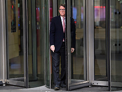 © Licensed to London News Pictures. 19/02/2017. London, UK. Lord PETER MANDELSON leaves BBC Broadcasting House in London after an appearance on The Andrew Marr Show on BBC one on February 19, 2017. Photo credit: Ben Cawthra/LNP