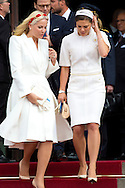 Copenhagen, 16-04-2015 <br /> <br /> Royals guests leave the City Hall of Copenhagen after a reception on the 75th birthday celebrations of Queen Margrethe of Denmark.<br /> <br /> <br /> Photo:Royalportraits Europe/Bernard Ruebsamen