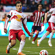 Bobby Convey, New York Red Bulls, in action during the New York Red Bulls V Chivas USA, Major League Soccer regular season match at Red Bull Arena, Harrison, New Jersey. USA. 30th March 2014. Photo Tim Clayton
