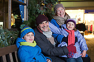 Grandparents, Grandchildren, Resting, Happiness, Christmas Market,