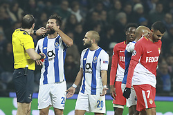 December 6, 2017 - Na - Porto, 06/12/2017 - Football Club of Porto received, this evening, AS Monaco FC in the match of the 6th Match of Group G, Champions League 2017/18, in Estádio do Dragão. Jonas Eriksson evicts Rachid Ghezzal; Felipe  (Credit Image: © Atlantico Press via ZUMA Wire)