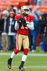 Nov 20, 2011; San Francisco, CA, USA; San Francisco 49ers wide receiver Ted Ginn (19) warms up before the game against the Arizona Cardinals at Candlestick Park. San Francisco defeated Arizona 23-7. Mandatory Credit: Jason O. Watson-US PRESSWIRE