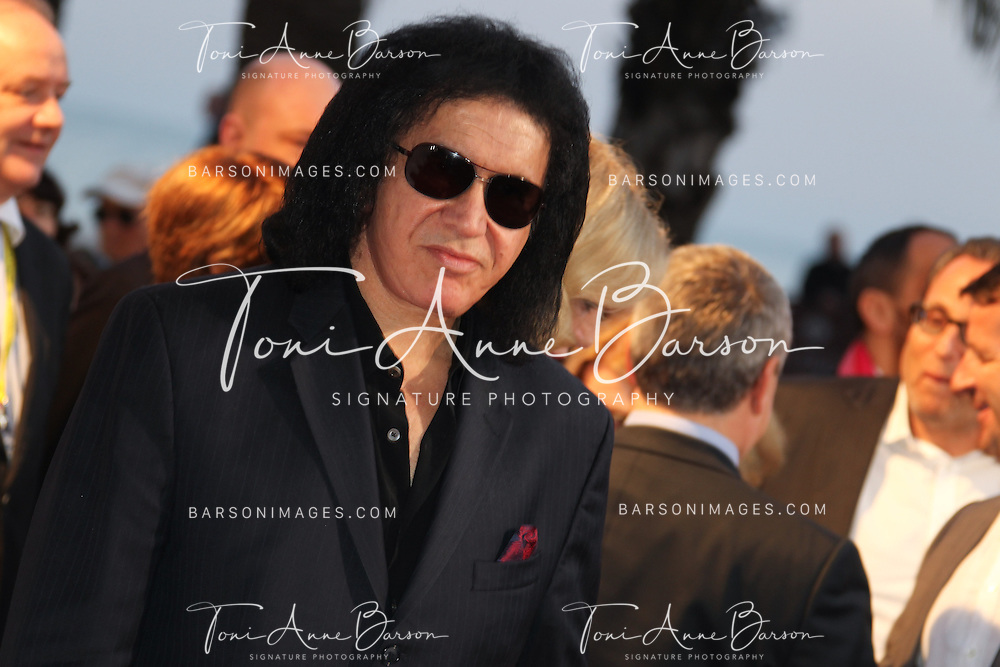 CANNES, FRANCE - APRIL 08:  Gene SIMMONS of KISS band arrives at the MIPTV 50th Anniversary : Opening Party at the Martinez Hotel on April 8, 2013 in Cannes, France.  (Photo by Tony Barson/Getty Images)