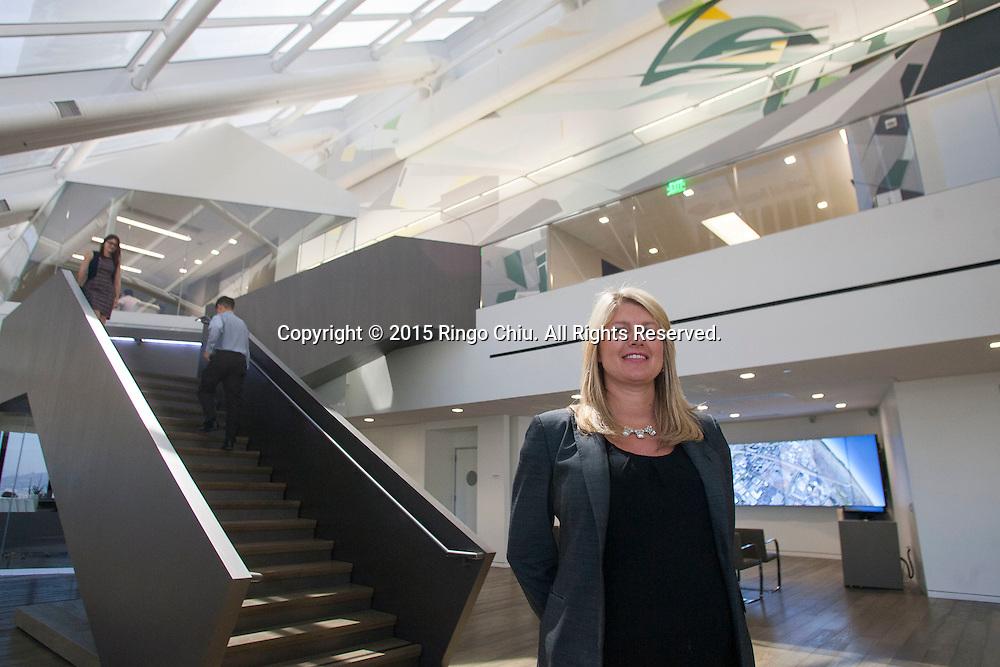Beth Moore of CBRE at the company's headquarters, 400 S. Hope Street, Los Angeles. (Photo by Ringo Chiu/PHOTOFORMULA.com)