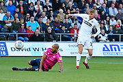Goal - Jay Fulton (27) of Swansea City scores a goal to give a 3-0 lead to the home team during the EFL Sky Bet Championship match between Swansea City and Queens Park Rangers at the Liberty Stadium, Swansea, Wales on 29 September 2018.