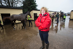 Horse Trainer Lucinda Russell at Arlary Stables in Kinross.