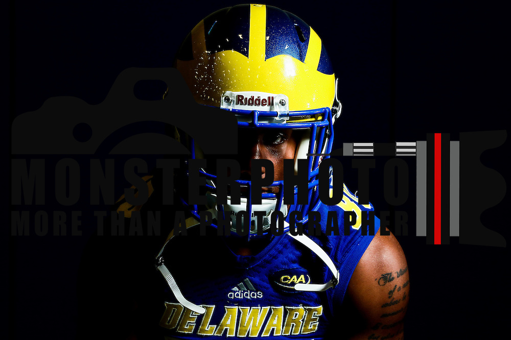 Photo of Delaware Wide Receiver Diante Cherry (80) taken Sunday, August 14, 2016, at Delaware Field House Facility on the campus of the university of Delaware in Newark.