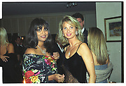 CORINA LARSEN, ,MALA LINDSAY, Mala Lindsay dinner party, Chelsea, London. September 1999