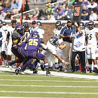 University of Mary Hardin-Baylor Crusaders v East Texas Baptist Univ. Tigers at Crusader Stadium,Belton Texas on Nov 09, 2013. Andy Zavoina