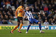 Brighton & Hove Albion full back Bruno Saltor (Captain) (2) during the EFL Sky Bet Championship match between Brighton and Hove Albion and Wolverhampton Wanderers at the American Express Community Stadium, Brighton and Hove, England on 18 October 2016.