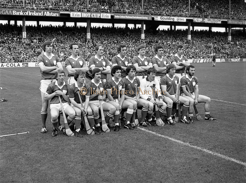 07/09/1980<br /> 09/07/1980<br /> 7 September 1980<br /> All-Ireland Hurling Final: Galway v Limerick at Croke Park, Dublin.<br /> The Limerick team.