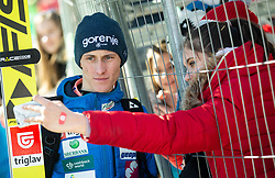 Peter Prevc (SLO) with fans during the Trial Round of the Ski Flying Hill Individual Competition at Day 1 of FIS Ski Jumping World Cup Final 2019, on March 21, 2019 in Planica, Slovenia. Photo by Vid Ponikvar / Sportida