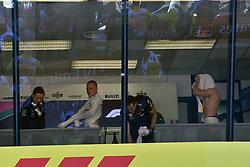 May 13, 2018 - Barcelona, Spain - Motorsports: FIA Formula One World Championship 2018, Grand Prix of Spain, .#77 Valtteri Bottas (FIN, Mercedes AMG Petronas Motorsport), #33 Max Verstappen (NLD, Aston Martin Red Bull Racing) (Credit Image: © Hoch Zwei via ZUMA Wire)