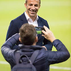 Juventus v Real Madrid UEFA Champions League final 2 June 2017; Alessandro Del Piero poses for a fans photo during the Juventus v Real Madrid UEFA Champions League final training session at the Principality Stadium, Cardiff<br /> <br /> &copy; Chris McCluskie | SportPix.org.uk