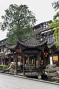 Chengdu, Kuan Zhai Xiang Zi historic city. Sichuan, China