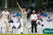 Wicket! Harry Podmore of Kent celebrates taking Surrey's final wicket of Jordan Clark of Surrey during the Specsavers County Champ Div 1 match between Surrey County Cricket Club and Kent County Cricket Club at the Kia Oval, Kennington, United Kingdom on 10 July 2019.