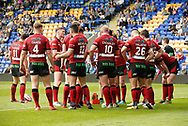 Bradford Bulls look dejected as there concede another try to Warrington Wolves during the Ladbrokes Challenge Cup match at the Halliwell Jones Stadium, Warrington<br /> Picture by Stephen Gaunt/Focus Images Ltd +447904 833202<br /> 21/04/2018