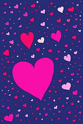 Dec. 04, 2012 - Large number of heart shapes, illustration (Credit Image: © Image Source/ZUMAPRESS.com)