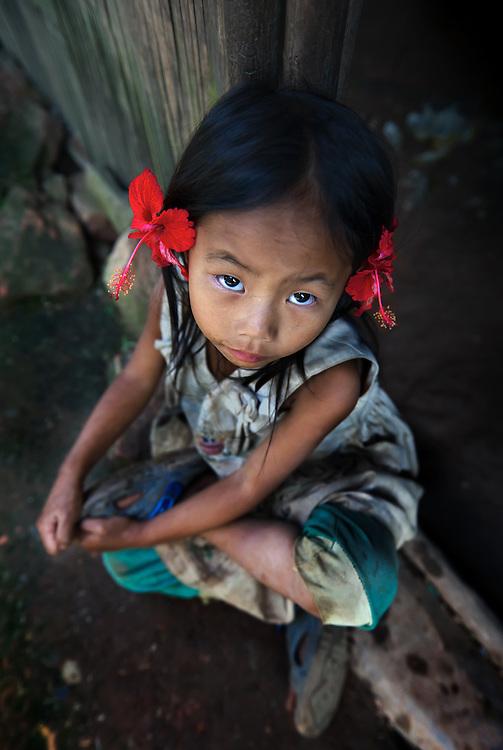 A Hmong girl in a village near Luang Prabang, Laos.