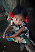 A Hmong girl in a village near Luang Prabang, Laos.