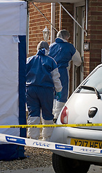 © under license to London News Pictures.  25/03/2011. Police forensics at the home of Christopher Halliwell who has ben charged with the murder of 22 year-old PA SIan O'Callaghan. Photo credit should read: LNP..