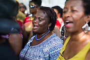 Memorial service for victims of shooting at Emanuel AME Church in Charleston, S.C. Photographed for UPI, 2015