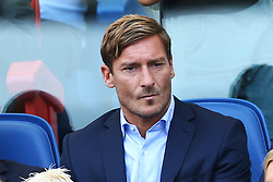 September 23, 2017 - Rome, Italy - Former Roma player and actually in the Club staff Francesco Totti during the Italian Serie A football match AS Roma vs Udinese on September 23, 2017 at the Olympic stadium in Rome. (Credit Image: © Matteo Ciambelli/NurPhoto via ZUMA Press)
