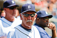 July 12, 2009: Tigers manager Jim Leyland during the MLB game between Cleveland Indians and Detroit Tigers at Comerica Park, Detroit, Michigan. Tigers defeated the Indians 10-1.