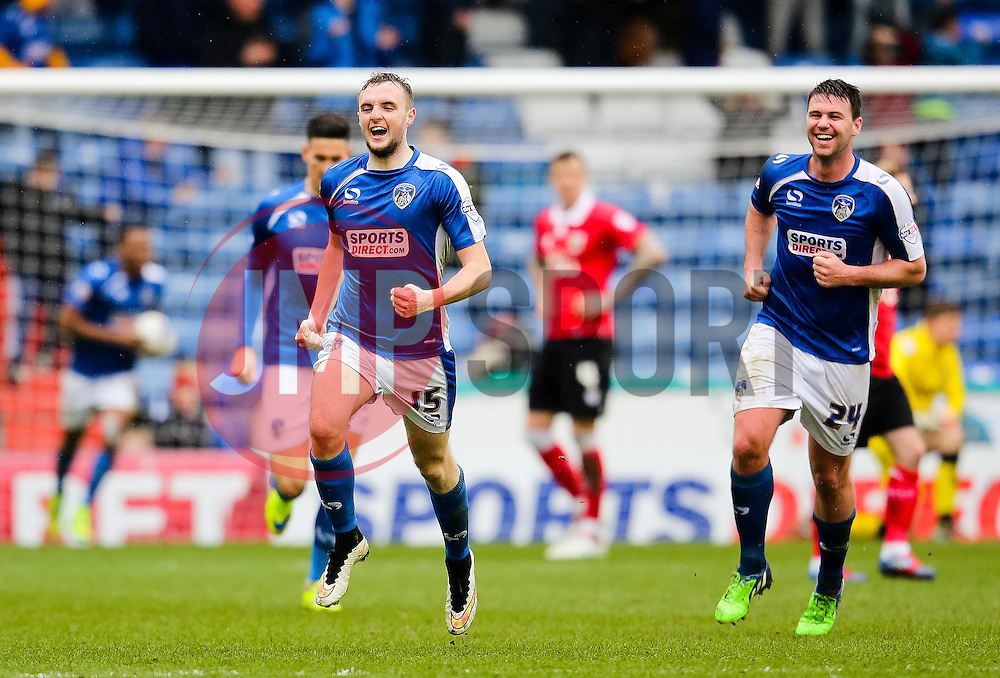 Oldham Athletic's Carl Winchester celebrates after scoring the equaliser 1-1 - Photo mandatory by-line: Matt McNulty/JMP - Mobile: 07966 386802 - 03/04/2015 - SPORT - Football - Oldham - Boundary Park - Oldham Athletic v Bristol City - Sky Bet League One