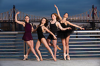 New York City Dance Photography- Dance As Art Gantry State Park with Mykaila Symes, Manon Hallay, Ashley Whitson and Dioni Georgitsou