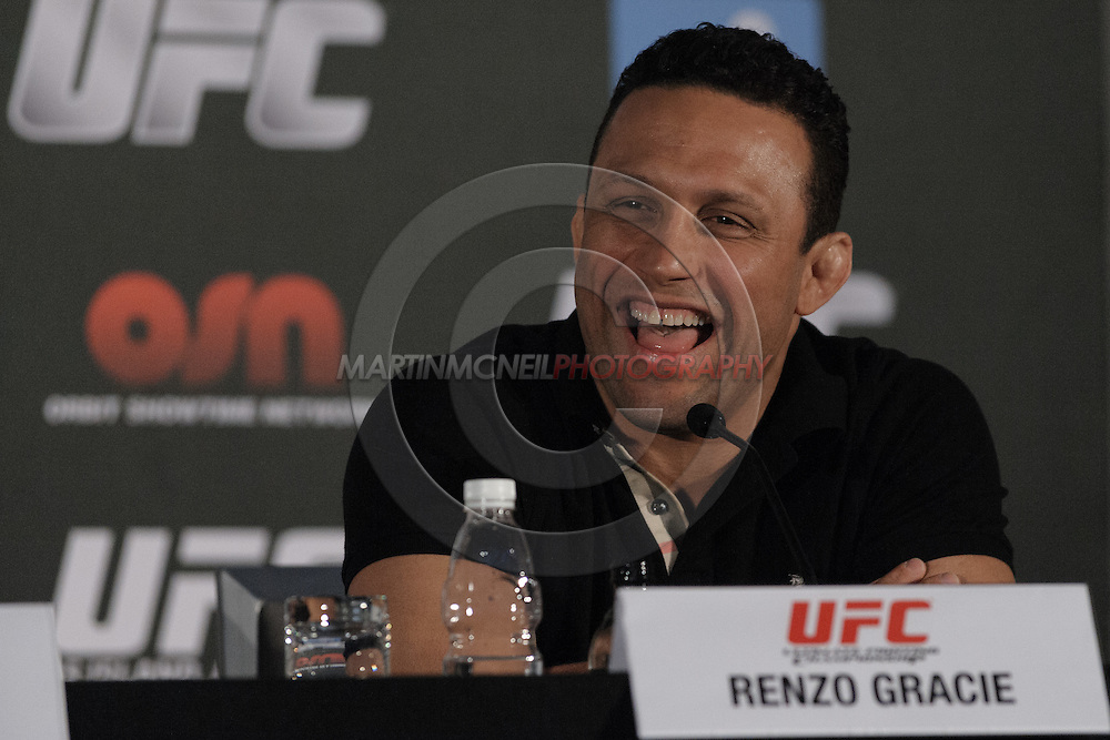 "ABU DHABI, UNITED ARAB EMIRATES, APRIL 7, 2010: Renzo Gracie is pictured during the pre-fight press conference for ""UFC 112: Invincible"" at the Rotana Hotel in Abu Dhabi on April 7, 2010. (Martin McNeil)"