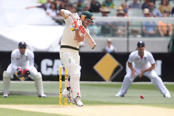 © Licensed to London News Pictures. 27/12/2013. David Warner during Day 2 of the Ashes Boxing Day Test Match between Australia Vs England at the MCG on 27 December, 2013 in Melbourne, Australia. Photo credit : Asanka Brendon Ratnayake/LNP