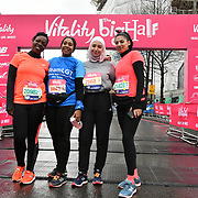 Community represents individual at The Vitality Big Half 2019 on 10 March 2019, London, UK.