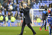 Crystal Palace Manager Alan Pardew thanks fans after  the The FA Cup Quarter Final match between Reading and Crystal Palace at the Madejski Stadium, Reading, England on 11 March 2016. Photo by Mark Davies.