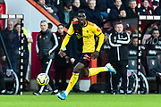 Ismaïla Sarr (23) of Watford on the attack during the Premier League match between Bournemouth and Watford at the Vitality Stadium, Bournemouth, England on 12 January 2020.