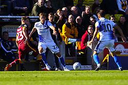 Joe Partington of Bristol Rovers passes to Tom Nichols of Bristol Rovers - Mandatory by-line: Ryan Crockett/JMP - 29/09/2018 - FOOTBALL - Northern Commercials Stadium - Bradford, England - Bradford City v Bristol Rovers - Sky Bet League One