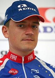 Rider Jure Zrimsek at introduction of cycling team Adria Mobil 2008, on April 9, 2008, Ljubljana, Slovenia. (Photo by Vid Ponikvar / Sportal Images)/ Sportida)