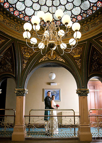 Wedding At Park Circus - Interior View with Bride and Groom.