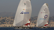 FRANCE, Nice, 19th November 2009, Louis Vuitton Trophy, Day 12, Semi Final Day 1, TEAMORIGIN vs Azzura, Race 1, Second leg.