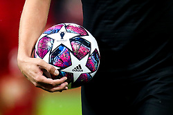 UEFA Champions League ball for the knockout stages for the 2019/20 season - Mandatory by-line: Robbie Stephenson/JMP - 11/03/2020 - FOOTBALL - Anfield - Liverpool, England - Liverpool v Atletico Madrid - UEFA Champions League Round of 16, 2nd Leg
