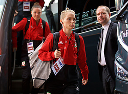 SOUTHAMPTON, ENGLAND - Friday, April 6, 2018: Wales' Jessica Fishlock arrives before the FIFA Women's World Cup 2019 Qualifying Round Group 1 match between England and Wales at St. Mary's Stadium. (Pic by David Rawcliffe/Propaganda)