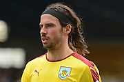 Burnley midfielder and Goalscorer George Boyd during the Sky Bet Championship match between Birmingham City and Burnley at St Andrews, Birmingham, England on 16 April 2016. Photo by Alan Franklin.