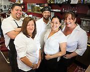 Mil's Diner staff members pose for a portrait at Mil's Diner in Milpitas, California, on September 12, 2014. (Stan Olszewski/SOSKIphoto)