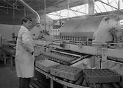 "21/5/1965<br /> 5/21/1965<br /> 21/5/1965<br /> <br /> A quality control Officer inspects the quality of ""Fanta"" Bottles at the John Egan & Son's  CocaCola Plant"